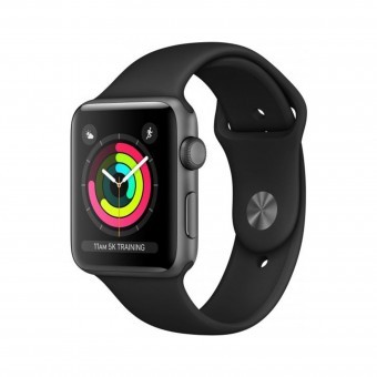 Apple Watch Series 3 38mm Space Grey Aluminium Black Sport MTF02