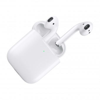 Apple Airpods 2019 with wired charging case White