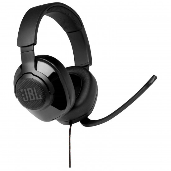 JBL Quantum 200 Wired Stereo Gaming Headset Black